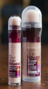Maybelline Instant Age Rewind Concealer and Foundation My ultimate drugstore makeup finds. Built-in applicators plus sunscreen (with the foundation) for under 20 bucks.
