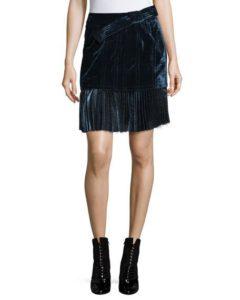 3.1 Phillip Lim sculpted velvet mini skirt